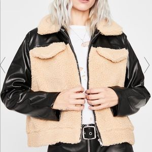 LEATHER AND TEDDY JACKET DOLLS KILL